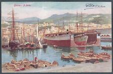 GENOVA CITTÀ 297 PORTO Cartolina viaggiata primi '900