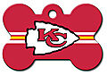 NFL KANSAS CITY CHIEFS PERSONALIZED PET ID TAG