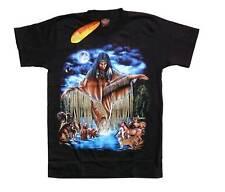 Biker T-Shirt Indianer Cowboy Gr.M, Reiter,Chopper,Wolf,Triker Rodeo Wolf Native