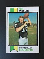 1973 Topps Set Break Ken Stabler Rookie Oakland Raiders #487 - VG/EX Condition