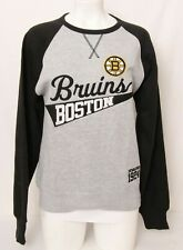 NEW Boston Bruins NHL Soft As A Grape Gray Embroidered Sweatshirt Women's M