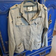 Prototype Army Green With Metal Studs Long Sleeve Jacket Large