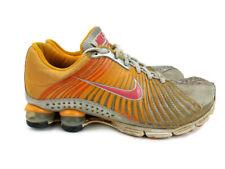 Nike Shox Experience Women's Running Shoes Sneakers 9 Orange Silver Walking