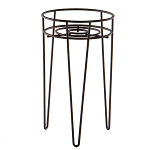 Metal Flower Pot Stand Wire Plant Pot Holder with Legs Planter Stand M&W Black