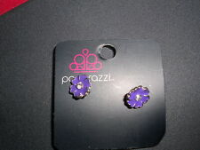 Kid's Earrings (new) FLOWER - PURPLE HEART PETAL #7