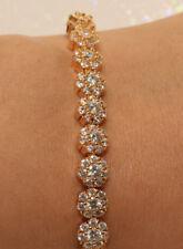 18k Yellow Gold Filled Tennis Diamond  Bracelet, 1.56Ct