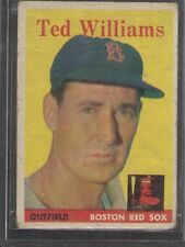 1958 Topps Ted Williams - Topps No 1 - Boston Red Sox - Good Condition