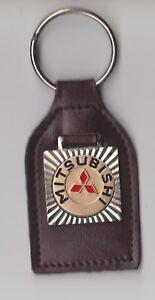 Leather MITSUBISHI Car Keyring Keychain Logo Schlüsselanhänger Porte-clés
