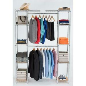TRINITY Wire Closet System 14 in. D x 76 in. W x 84 in. H Chrome Expandable