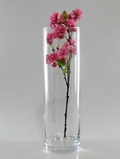 Time Tree Handmade Cylindrical Turkish Glass Vase Height 50cm Diameter 15cm