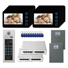"""Home Security Apartment Video Intercom System Kit with (10) 5"""" Color Monitor"""