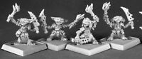4 x GOBELIN PYROS - PATHFINDER REAPER miniature jdr rpg d&d metal goblin 60017