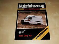 Iveco Daily 4x4 Test Nutzfahrzeug LKW Magazin 1987