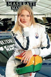 Jodie KIDD SIGNED Autograph 12x8 Photo AFTAL COA Sexy Model MASERATI Racing