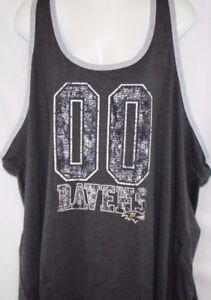 NEW Womens NFL Apparel Baltimore Ravens 00 Charcoal Tank Top Football Shirt