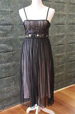 Stunning Fate Black Evening Dress / Cocktail Dress with Gem Feature Size 8 GC