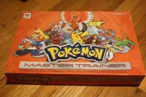 Pokemon Master Trainer Board Game Milton Bradley Hasbro 2005