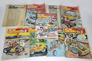 Vintage Hot Rod Cartoons Comics Lot #32, 38, 39, 44, 46, 50, 52, 53, 55. '70-73