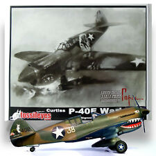 FOSSILEYES 1/48 CURTIS P-40E WARHAWK KIT W/ BOOK AND PRINT(ARTIST SIGNED & NO.)