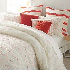 5-Pc DKNY Urban Sanctuary KING Comforter Set & Euro Shams Ivory Coral Zig Zag