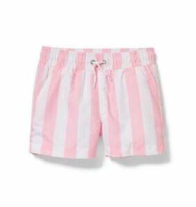 Janie And Jack LE Dawne Florine Men's Pink Striped Swim Trunks Sz. S NWT