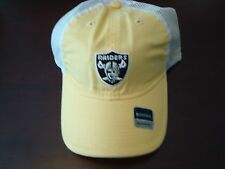 OAKLAND RAIDERS TRUCKER  REEBOK WOMENS   DEADSTOCK  HAT CAP ADJUSTABLE STRAPBAC