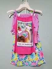 Girl's Komar Kids 3pc Sleepwear Set, Pups in Paradice Size 6/6X NWT