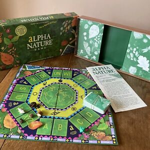 Alpha Nature Board Game. Nature discovery family game. Natural Materials.