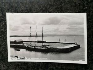 """The """" PRINCE LOUIE """" in BURGHEAD HARBOUR - Moray - B/W RP - Used"""
