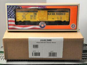 Lionel 2101380 METCA Alaska 6464-825 Reverse Boxcar-New!