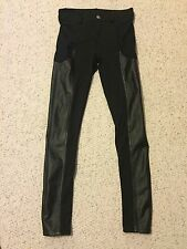 Urban Outfitters Sparkle & Fade Black Faux Leather Leggings Size 24