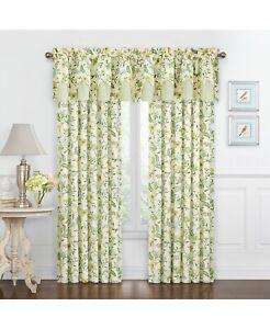 WAVERLY Carolina Crewel Window Curtain Spring Set of 2 52 In x 95 In Multicolor