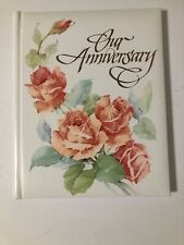 NEW Vintage Carlton Cards Keepsake Album Our Anniversary