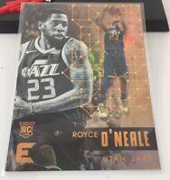 Royce O'neale Panini Essential Rookie Card #123 2017-18 Utah Jazz Gold