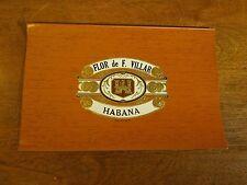 Vintage Flor De F Villar Habana Cigar Label C.L.Co. No 2