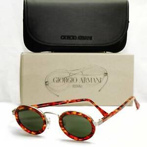 Authentic Giorgio Armani 1997 Vintage Sunglasses Oval Brown Mens Womens 631 891