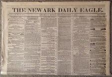 1855 New Jersey Newspaper/Medical Amputation of Man's Leg