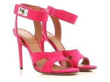 Givenchy Women's stiletto heels sandals fuxia suede leather Size US 9.5 - EU 39½