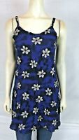 Bali Girl Blue Gray Grey Cover Beach Tunic Top Dress Womens Size Small Medium