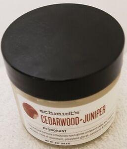 Schmidt's Natural Deodorant Jar Cedarwood Juniper Jar 2 oz (56.7 g) PB 06