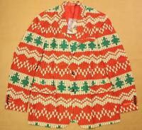 Shinesty Men'sThe Red Ryder Knit Christmas Blazer KB8 Multi-Color Size 44 NWT