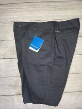 New womens COLUMBIA Sunset Hill long bermuda cotton walking shorts 11 inch Blue