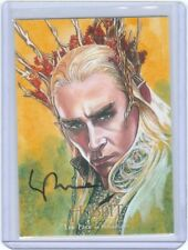 The Hobbit Desolation Smaug Illustrated Autograph Card Lee Pace Thranduil