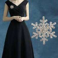 Fashion Rhinestone Crystal Christmas Snowflake Women Wedding Jewelry Brooch Pin