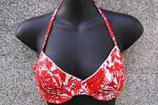 Bikini opaca, talla 36 C de Esprit rojo-blanco floral