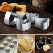 Aluminum Metal Love Heart Cake Biscuit Cookie Cutter Decor Diy Baking Mould Tool
