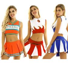 Sexy Women Schoolgirl Cheerleader Costume Cosplay Student Uniform Musical Outfit