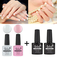 Belen Soak Off Gel Nail Polish French Manicure Lacquerd Gift + Top & Base Coat