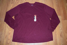 NEW Mens EDDIE BAUER Dark Berry Maroon Long Sleeve Shirt Size XXXL 3XL