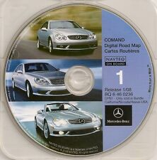 2001 2002 2003 Mercedes S600 S500 S430 S55 GPS Navigation CD Map #1 Cover CA NV